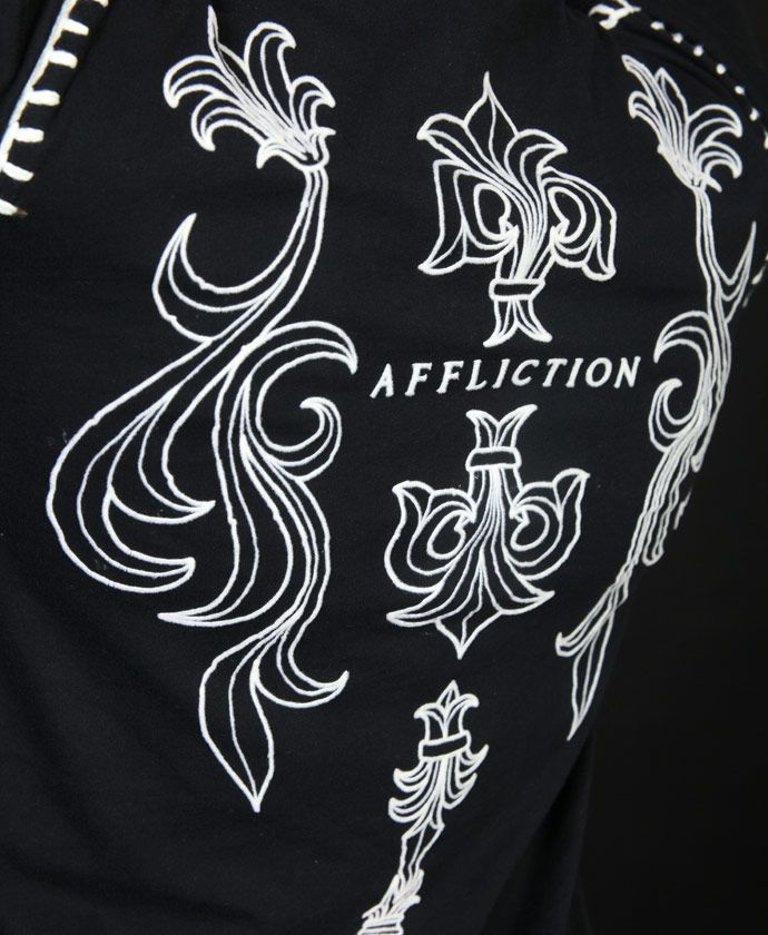 Купить футболка Affliction Stone Flower black в Екатеринбурге